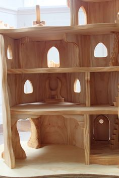 """14 June 2013 - """"Elf Castle""""   Last Christmas, Fil, aka the Woodbotherer, did several commissions & this Elf Castle was 1 of them. Complete w/ a throne, balcony & even a dragon's cave at the bottom   Sam Dickenson & Philip (Fil) Stokes, of The Elves & the Woodbotherer, New Zealand."""