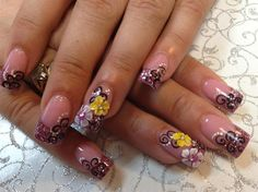 Yellow 3D flower w/ white flower by Pinky - Nail Art Gallery nailartgallery.nailsmag.com by Nails Magazine www.nailsmag.com #nailart