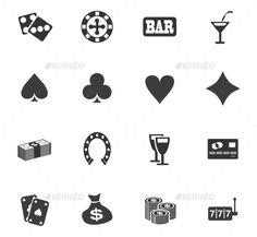 Download Free Graphicriver              Casino Icon Set            #ace #bagofmoney #bar #black #blackjack #casino #chip #club #cocktail #creditcard #diamond #dice #glasses #heart #horseshoe #icons #jackpot #leisure #luck #machine #money #playingcards #poker #set #sign #slot #spade #symbol #vector #wheel