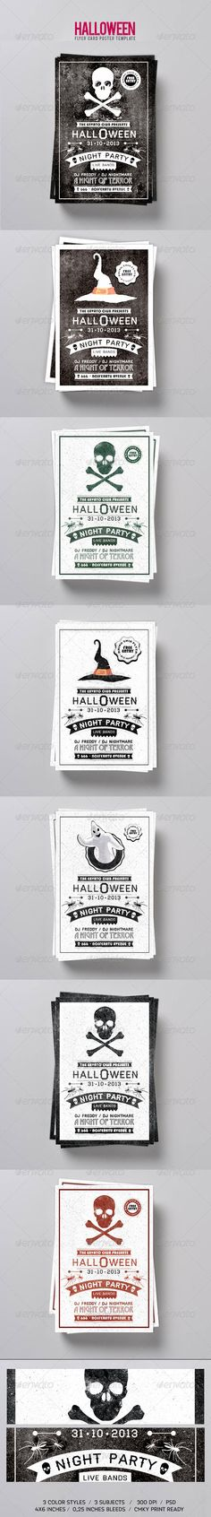 Typography Halloween Flyer #GraphicRiver Halloween Flyer/Postcard Template RE-UPLOADED This is perfect for Halloween events and invitations Free Fonts GOBLIN .fontsquirrel /fonts/goblin BAUHAUS 93 .911fonts /font/download_Bauhaus93Regular_26555.htm HAYMAKER .losttype /font/?name=haymaker FRANCHISE .dafont /franchise.font