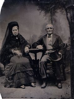 Elders in Mourning, Tintype, Circa 1872
