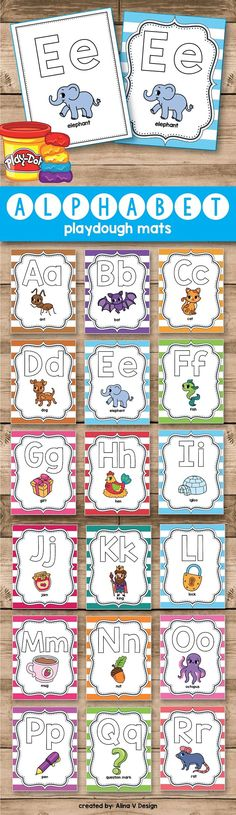 Alphabet Playdought Mats - Teach your preschool and kindergarten students the alphabet letters recognition with this fun play dough activities and games. This printable play dough mats are a fun way for the kids to develop their fine motor skills in the classroom. Print, laminate and have fun.