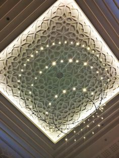 Delicate chandelier made of fairy lights.  Mirdif City Centre, Dubai, UAE.   Life in Minutes