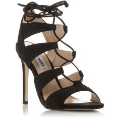 Steve Madden Sandalia ghillie lace up sandals ❤ liked on Polyvore featuring shoes, sandals, laced shoes, lace-up sandals, laced sandals, black shoes and steve-madden shoes