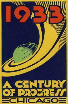 1933 CHICAGO CENTURY OF PROGRESS EXPO ART DECO POSTER NEW PRINTING | eBay