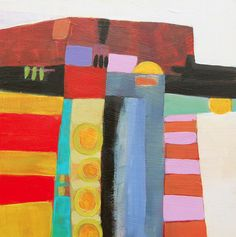 """Daily Painters Abstract Gallery: Contemporary Abstract Painting """"La Boca #2"""" by Santa Fe Artist Annie O'Brien Gonzales"""