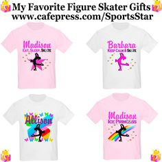 Figure Skaters will be inspiring with our original personalized Figure Skating T Shirts, Apparel and Gifts! http://www.cafepress.com/sportsstar/10189550 #Figureskater #FigureSkating #Skatinggifts #Iloveskating #Borntoskate #Figureskatinggifts #PersonalizedSkater #FigureSkatingTShirt