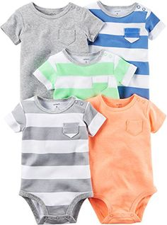 Carter's Baby Boys Multi-Pk Bodysuits 126g626, Blank, 9 Months Baby. For product info go to: https://all4babies.co.business/carters-baby-boys-multi-pk-bodysuits-126g626-blank-9-months-baby/