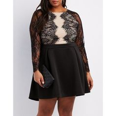 Cool Plus Size Black Dresses Charlotte Russe Lace Bodice Skater Dress ($31) ❤ liked on Polyvore featuring p... Check more at http://24myshop.cf/fashion-style/plus-size-black-dresses-charlotte-russe-lace-bodice-skater-dress-31-%e2%9d%a4-liked-on-polyvore-featuring-p/