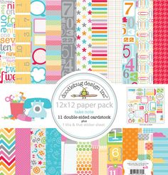 Doodlebug Design Inc Take Note Collection Paper Pack