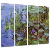 "36"" x 48"" $205 Found it at Wayfair - 'Sea Roses' by Claude Monet 4 Piece Painting Print Gallery-Wrapped on Canvas Set"