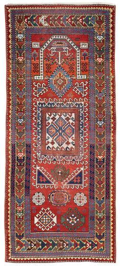Caucasian Kazak prayer rug Fosterginger.Pinterest.ComMore Pins Like This One At FOSTERGINGER @ PINTEREST No Pin Limitsでこのようなピンがいっぱいになるピンの限界