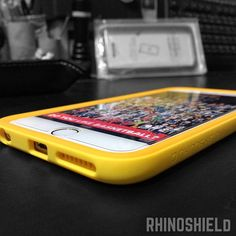 Photo gallery of Rhino shield screen protector and crash guard – Evolutive Labs, #yellow#iPhone 6#iPhone plus #bumper#case#extreme#protection