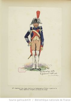 [Grenadiers-gendarmes, gendarmerie d'élite de la garde des consuls et de la garde impériale, 1793-1815 / Notes et aquarelles par E. Fort.] - 30
