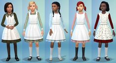 Sims 4 Victorian Pinafore Dress Part 1 Download