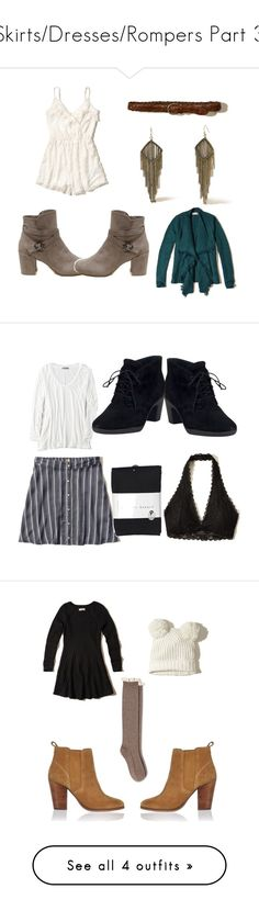 """""""Skirts/Dresses/Rompers Part 3"""" by that-girl-j ❤ liked on Polyvore featuring Hollister Co., American Eagle Outfitters, Clarks, Harvé Benard and River Island"""