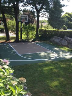 Image result for small backyard basketball court