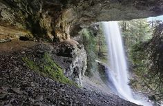 Cathedral Falls .  Always fun to hike under a waterfall!