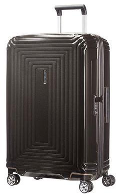 Samsonite Neopulse Spinner 69 25 Valigia Policarbonato M tallique Noir 74 ml Hand Luggage, Luggage Sets, Travel Luggage, Hard Sided Luggage, Hardside Spinner Luggage, Trolley Bags, Spinner Suitcase, Black, Colors