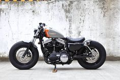 HardSun Motorcycles: Custom Sportster Forty Eight, by Hide Motorcycles