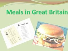 Meals in Great Britain.>