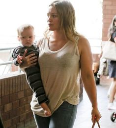 Bellyitch alum: Hilary Duff and her son Luca was seen leaving baby class in Studio City last Wednesday.
