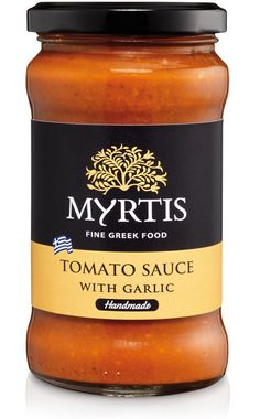 The handmade tomato sauce Myrtis is made from the finest selection of ripe tomatoes for an extra rich flavor, Greek Garlic and a hint of spices to create a unique taste. Our handmade sauce is perfect for pasta, pizza, stews and for many plates of the Mediterranean Cuisine.