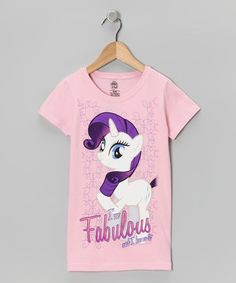 Take a look at this Light Pink 'Fabulous' My Little Pony Tee - Girls by My Little Pony on #zulily today!