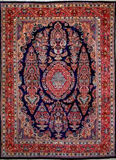 "Buy Mashad Persian Rug 9'  10"" x 13'  1"", Authentic Mashad Handmade Rug"