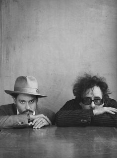 Tim Burton & Johnny Depp. My absolute favorite picture. I need this on a poster right now.