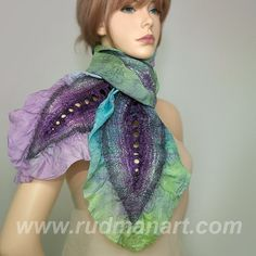 Peacock Colored Scarf