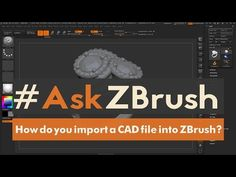 "#AskZBrush - ""Is there a way to have an IMM Curve Brush randomly cycle its InsertMeshes?"" - YouTube"