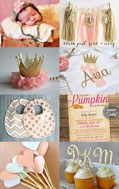 Pink Gifts for a Baby Shower by Ludy on Etsy--Pinned with TreasuryPin.com