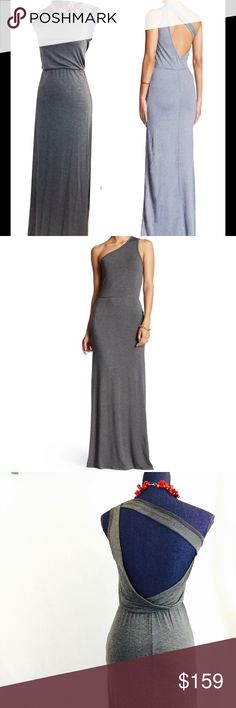 """GO Couture NWOT Open Back S Gray Maxi Dress Look great coming and going in this Oh-so-flattering GO Couture gray maxi dress. New without tags.  It came in the manufacturer's poly bag, tags unattached.  Featuring a sexy back!  Pullover style. Sleeveless. Modal/10% elastane. So comfy! Machine Wash. Approx. flat measurements bust 15"""" length 59"""". Small. Love this dress! GO Couture Dresses Maxi"""