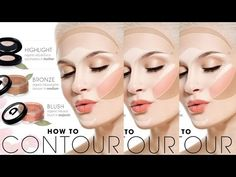 How to Contour for Your Face Shape - Makeup Tutorials 2015 - Tips4Girls - YouTube