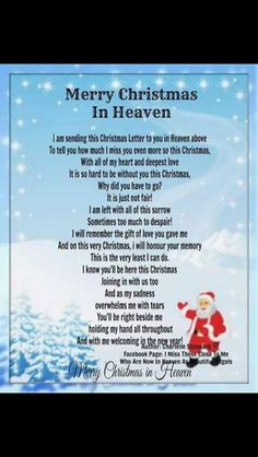 21 Of the Best Ideas for Merry Christmas In Heaven Quotes - Best Quote Ideas Collections Missing Someone In Heaven, Mom In Heaven, Mom Quotes, Best Quotes, Funny Quotes, Favorite Quotes, Best Christmas Quotes, Christmas Sayings, Birthday In Heaven Mom