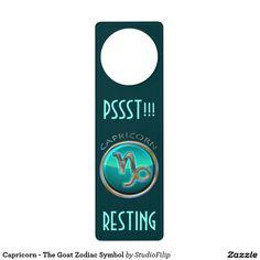 Capricorn - The Goat Zodiac Symbol Door Hanger