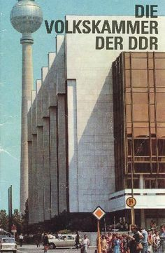 """""""The people's parliament of the GDR"""" Copyright: DDR Museum, Berlin. Commercial use of the image is not allowed, but feel free to repin it!"""