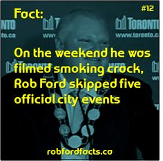 Fact On the weekend he was filmed smoking crack, Rob Ford skipped five official city events Rob Ford, City Events, Family Day, Smoking, Facts, Film, Movie, Movies, Film Stock