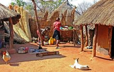 Dorpsleven - foto gemaakt in Zuid Zambia