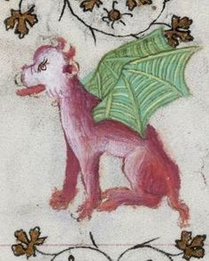 The Winged Pink Dog (@MorganLibrary, MS M919)