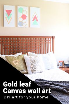 Easily make your own gold leaf wall art on inexpensive canvas. Use these tips to learn how to add gold leaf to canvas.