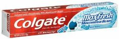 Colgate  Max Fresh Toothpaste, Mint Burst, 6-Ounces Tubes (Pack of 5) by Colgate. $30.99. Helps fight germs with brushing. Helps protect against cavities. Freshness unleashed. With whitening! Infused with dissolvable mini mouthwash beads. Freshness unleashed. Freshens breath. Whitens teeth. Fights cavities. Helps fight germs with brushing. Dual use cap. Flip top or twist off. Made in Mexico.