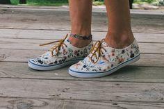 always rooney: Floral Vans Restyle | DIY
