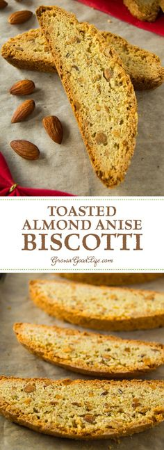 These almond anise biscotti are bursting with toasted almonds and subtle anise flavor. They can be enjoyed as a crisp cookie, or they can be baked longer the second time for a firmer biscotti that stands up to dipping into your coffee, tea, or beverage of Biscotti Cookies, Galletas Cookies, Almond Cookies, Chocolate Cookies, Anise Cookies, Real Food Recipes, Cookie Recipes, Dessert Recipes, Bread Recipes