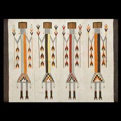 Stock Id: General Rug Type: American Specific Rug Type: Navajo Circa: 1930 Color: Ivory Origin: USA Width: ( cm ) Length: ( cm ) Navajo Weaving, Navajo Rugs, Native American Rugs, Rugs On Carpet, Nativity, Oriental, The Originals, Antiques, Handmade