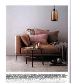 Earthy tones - Elle Decor 2013 - Futura Home Decorating Elle Decor, Home Interior, Interior Styling, Autumn Interior, Pastel Interior, Color Interior, Purple Interior, Home Deco, Ideas Hogar