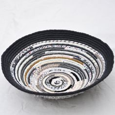 Recycled coiled basket/bowl
