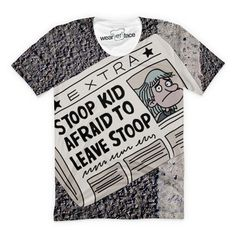Hey Arnolds favorite anxiety ridden 12 year old is featured here, reminding everyone that all you need to do is take that first step.....off the stoop. This all-over-print t-shirt is a #mustbuy.