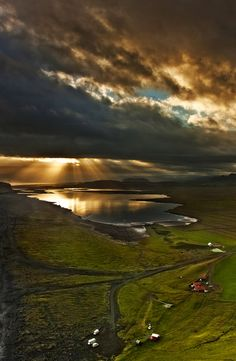 """Scenic dramatic clouds is common here in Iceland, and mixed with breathtaking nature wonders and approachable landscapes it should definitely be on your list """"best places to photograph awesome skies""""."""